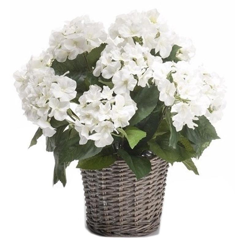 Bellatio flowers & plantsBuiten kunstplant Hortensia 45 cm