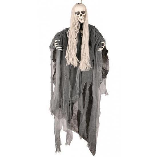 OndergoedwinkelHalloween - Bewegend decoratie skelet met lang haar