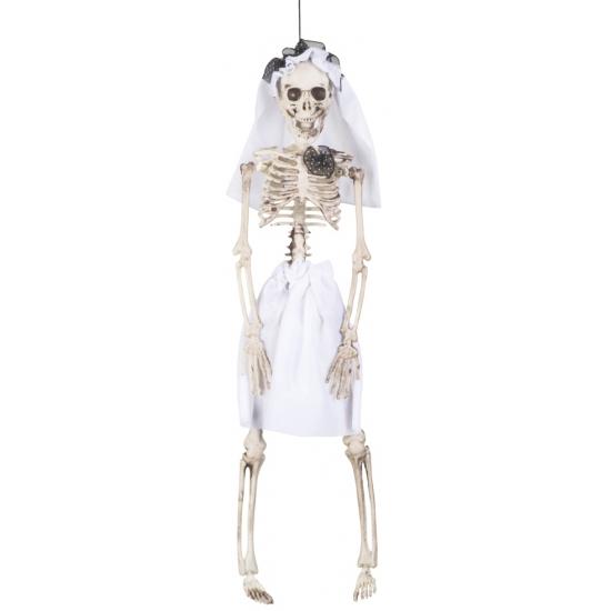 OndergoedwinkelHalloween - Decoratie skelet bruid 41 cm