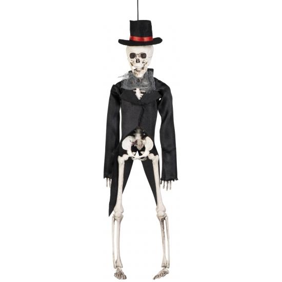 OndergoedwinkelHalloween - Decoratie skelet bruidegom 41 cm