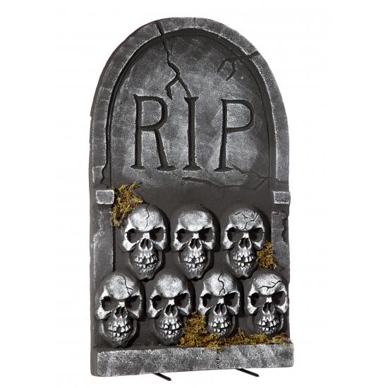 Halloween Grafsteen Rip Met Schedels 55 Cm kopen