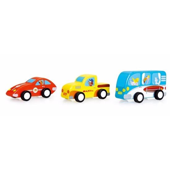 ScratcheuropeHouten speelgoed autoset 3 stuks 9, 5 cm.