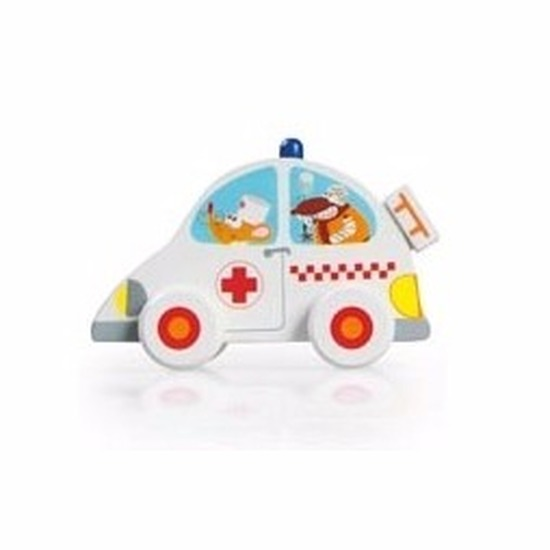 ScratcheuropeHouten speelgoed ambulance 10 cm