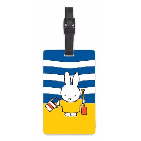 Kofferlabel Nijntje op het strand 10, 5 cm