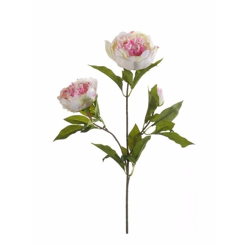 geenKunstbloem pioenroos met 3 takken