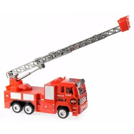 geenSpeelgoed brandweerauto met licht en geluid 27 cm