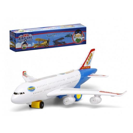 Wit Speelgoed Vliegtuig Met Licht En Geluid kopen